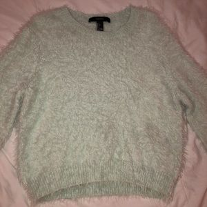 NWOT Forever 21 Mint Green Fuzzy Sweater